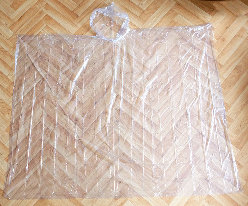 VIOLA pláštěnka - pončo turistická jednorázová 5710 čirá