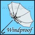 větruodolný deštník
